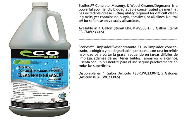 Heavy duty degreaser eco best eco friendly stains for Concrete cleaner degreaser